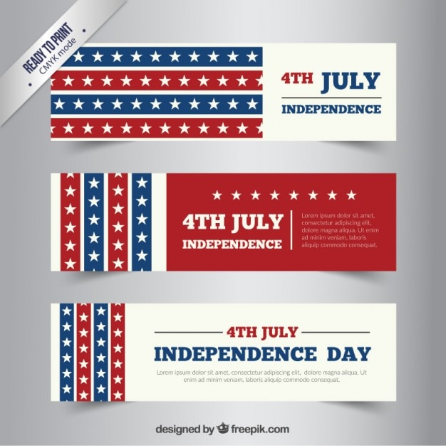 Independence Day Banners Pack Vector Free Download