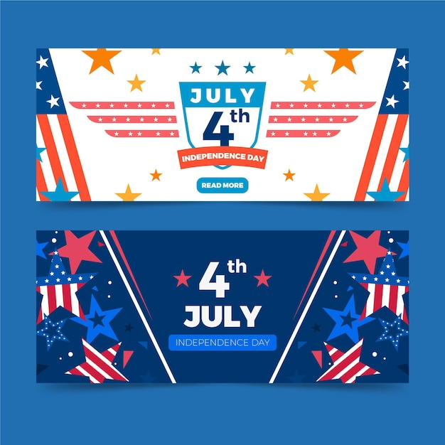 Tema delle bandiere di festa dell'indipendenza Vettore gratuito