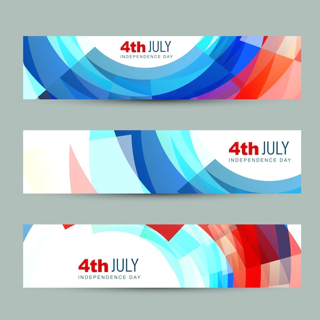 Independence day banners Free Vector