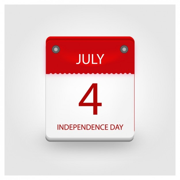 Independence Day Calendar Free Vector