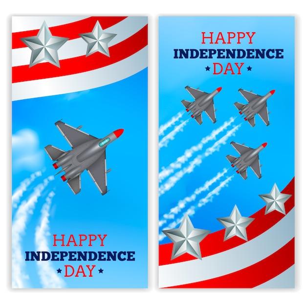 Airshow militare di celebrazione di festa dell'indipendenza Vettore gratuito