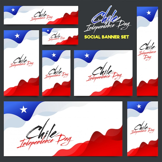 Independence day of chile background design. Premium Vector