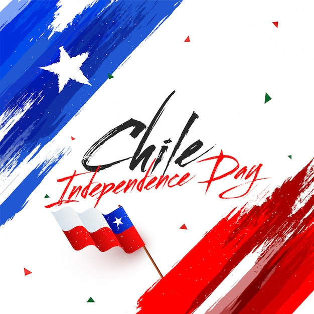 Independence day of chile Premium Vector
