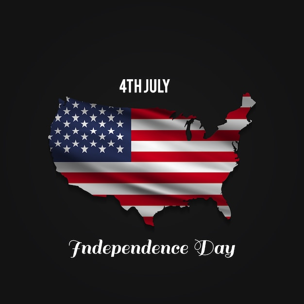 Independence day design with usa map Vector Free Download