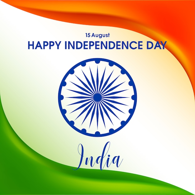 Independence day of india Premium Vector