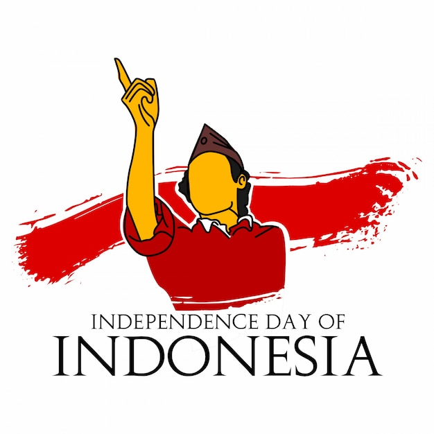Independence day of indonesia Premium Vector