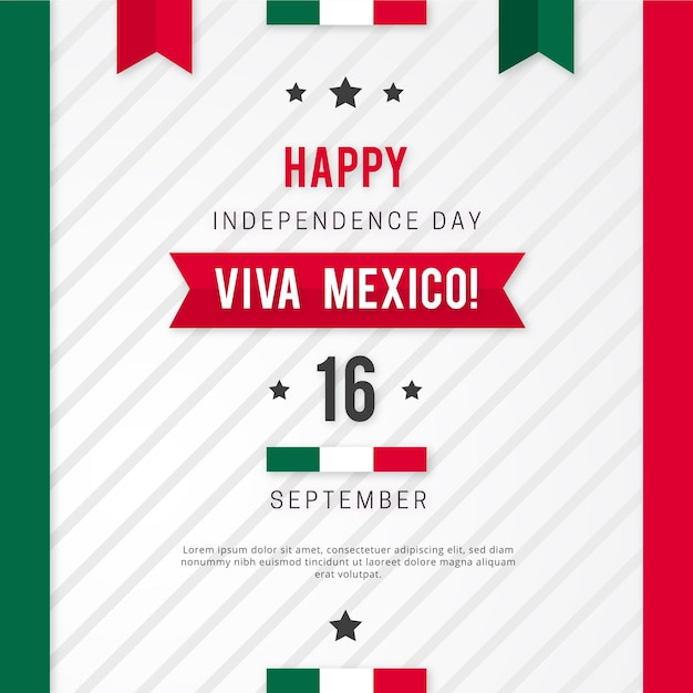 Independence day of mexico concept Premium Vector