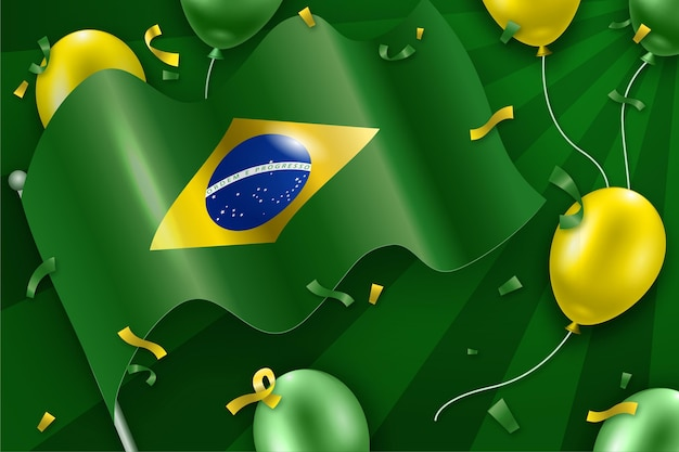 День независимости бразилии Бесплатные векторы