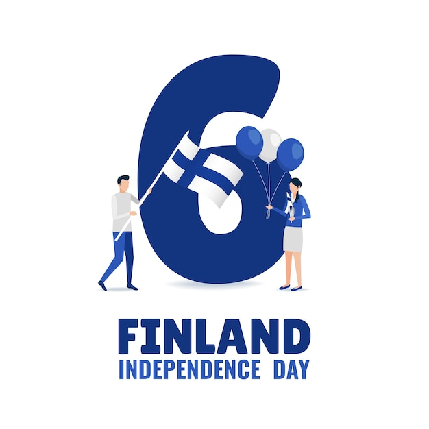 День независимости финляндии Premium векторы
