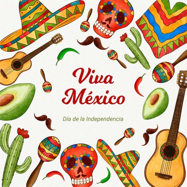 メキシコイベントの独立記念日 無料ベクター