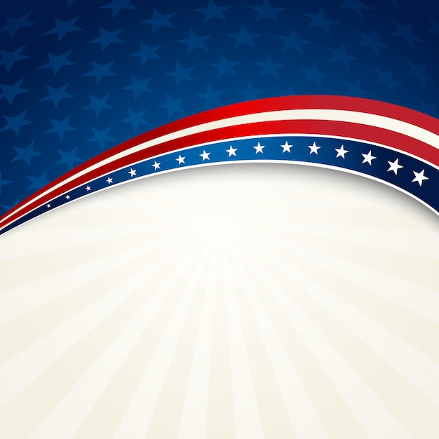 Independence day patriotic background Premium Vector