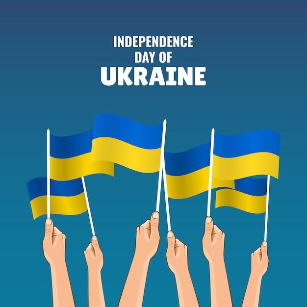 Independence day of ukraine. Premium Vector