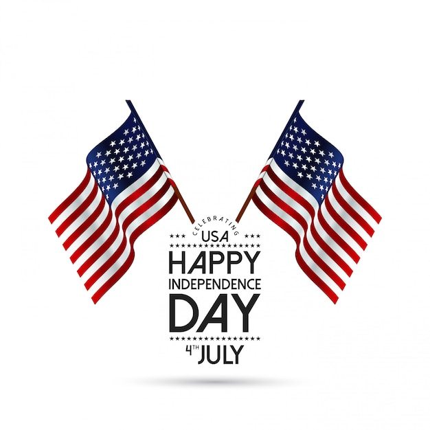 Independence day of the usa 4 th july Free Vector