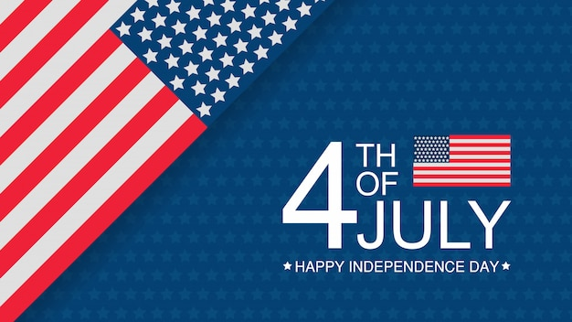 Independence day usa celebration banner template with american flag Premium Vector