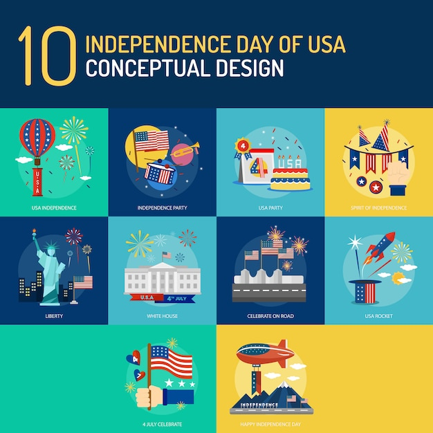 Independence day of usa conceptual design Premium Vector