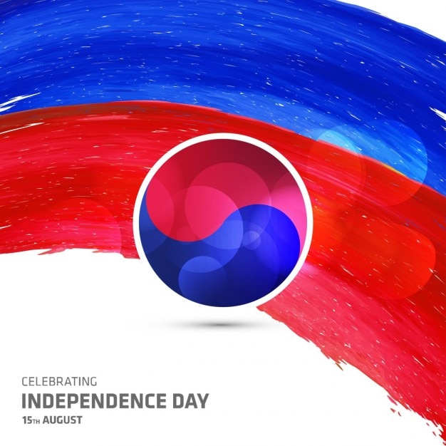 Independence day,  watercolor Free Vector