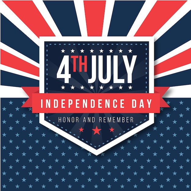 Independence day with stars Free Vector