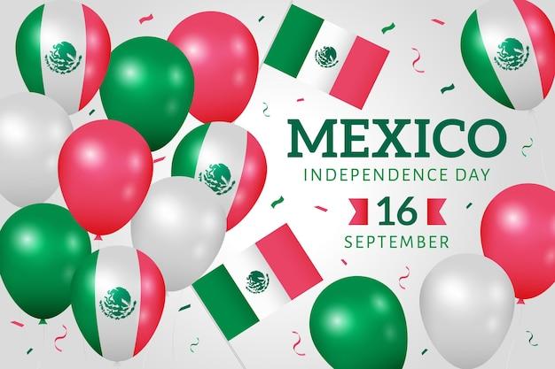 インデペンデンシアデメキシコ紙吹雪のバルーン壁紙 無料ベクター