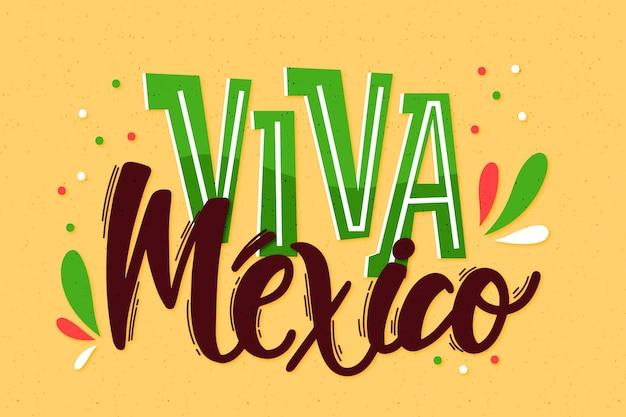Independencia de mexico lettering Free Vector
