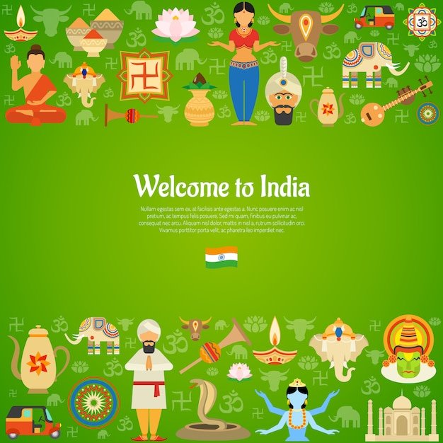 India background illustration Free Vector