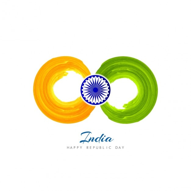 India background with watercolor circles