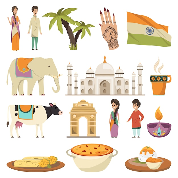 India element collection Free Vector