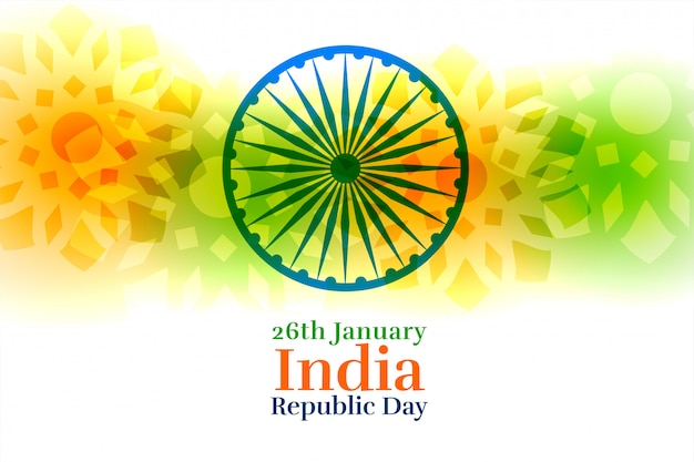 India happy republic day creative background Free Vector