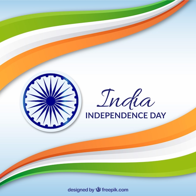 India independence background Free Vector
