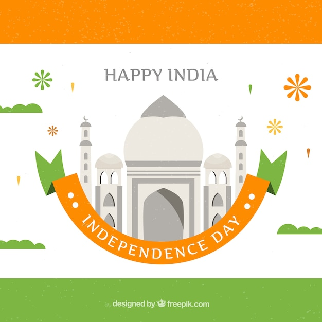 India independence day background in flat design