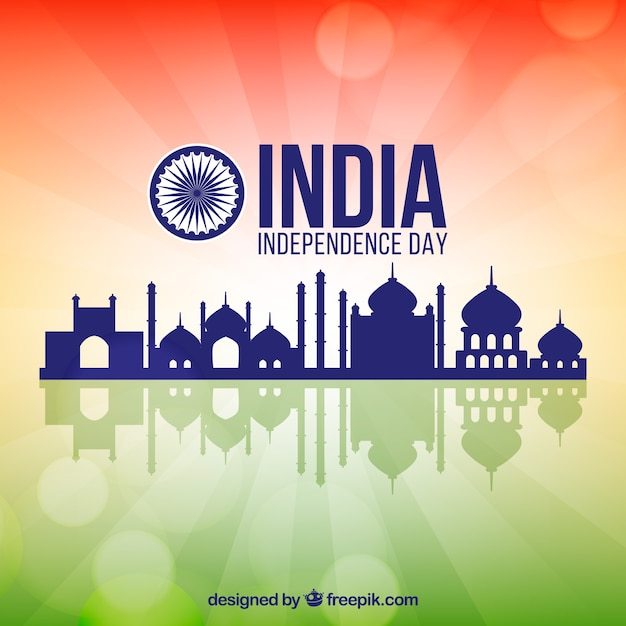 India independence day background with architecture