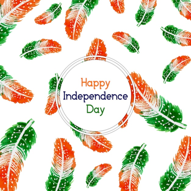 India independence day background with feathers