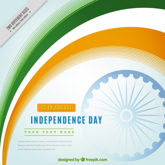 India Independence Day Beautiful Background Vector Free Download