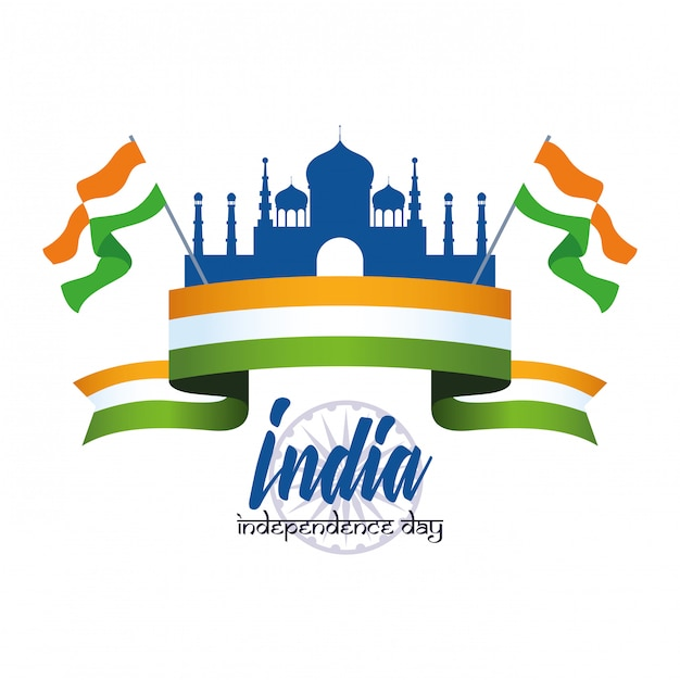 India independence day card Free Vector