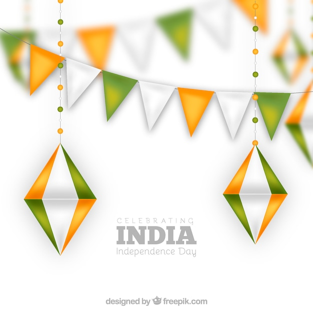 India independence day garland design Free Vector