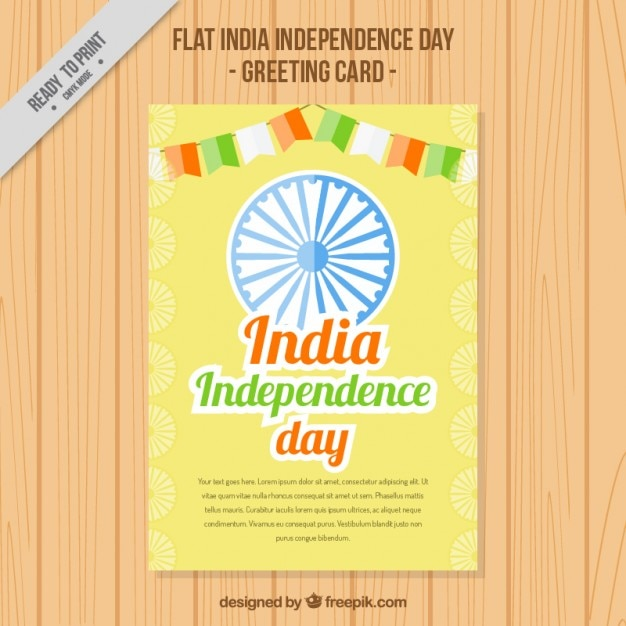 India independence day greeting card with garlands vector free india independence day greeting card with garlands free vector m4hsunfo