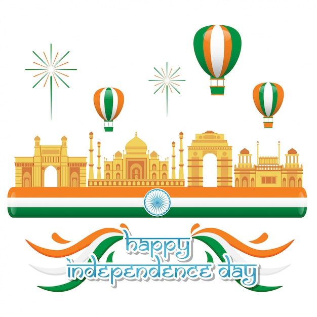 India independence day illustration Premium Vector