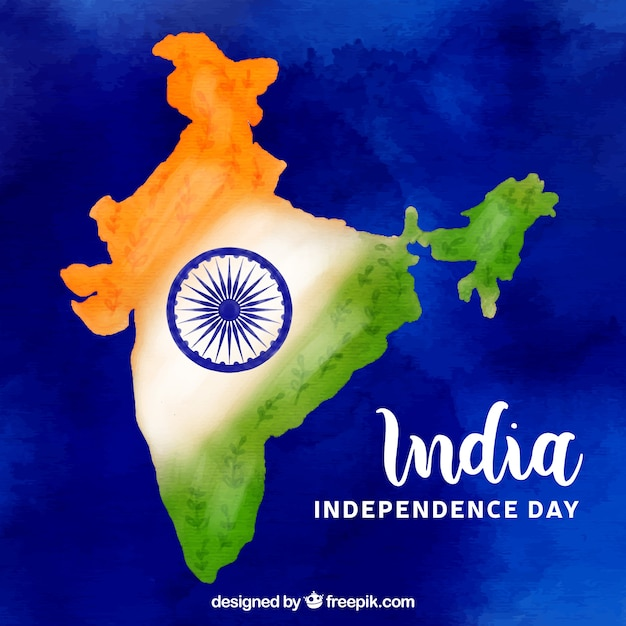 India independence day map background Free Vector