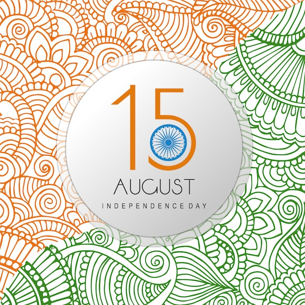India independence day ornamental background