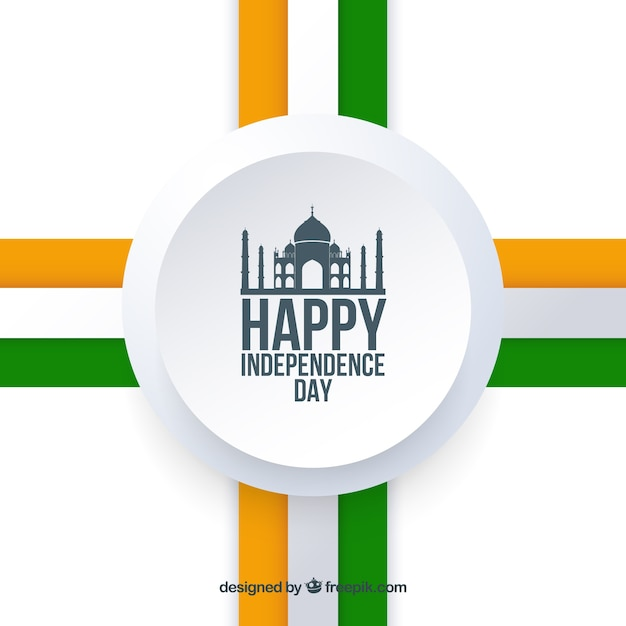 India independence day with elegant style Free Vector