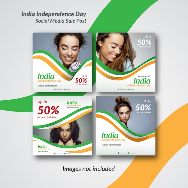 India post or banner template for instagram and social media