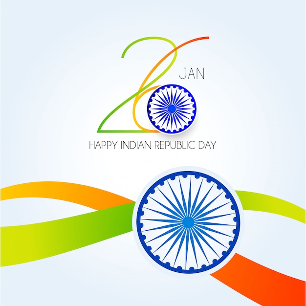 India republic day. 26 january indian background Premium Vector