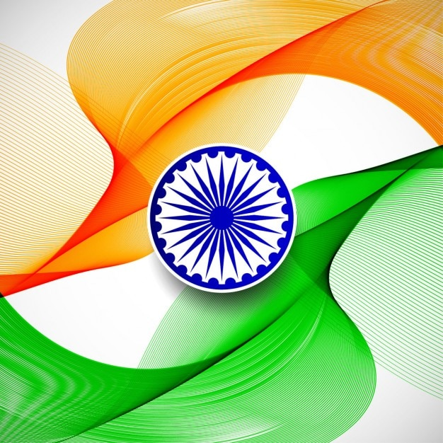 India republic day, abstract background with the flag colors