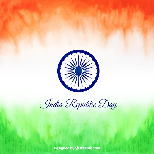 India Republic Day Background Vector Free Download