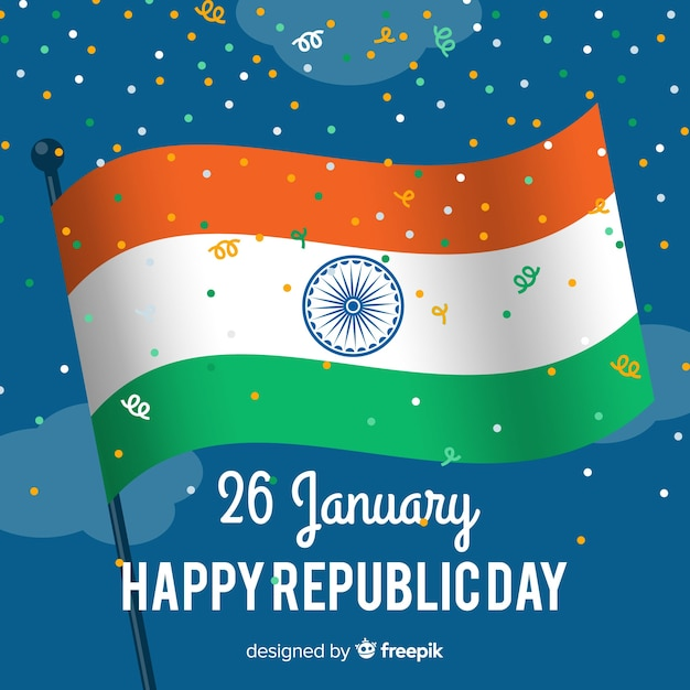 India republic day background Free Vector