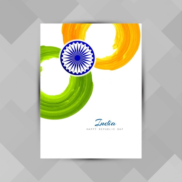 India republic day, poster painted with watercolor