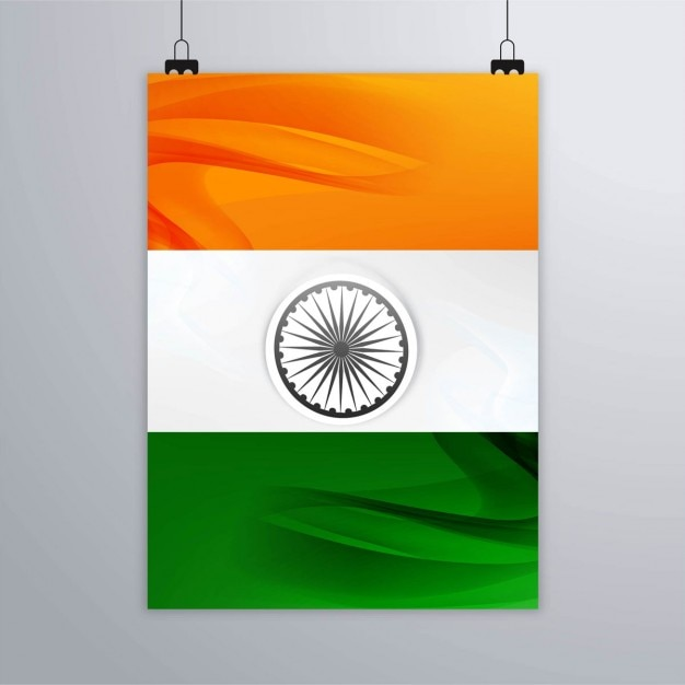 India republic day, poster with flag