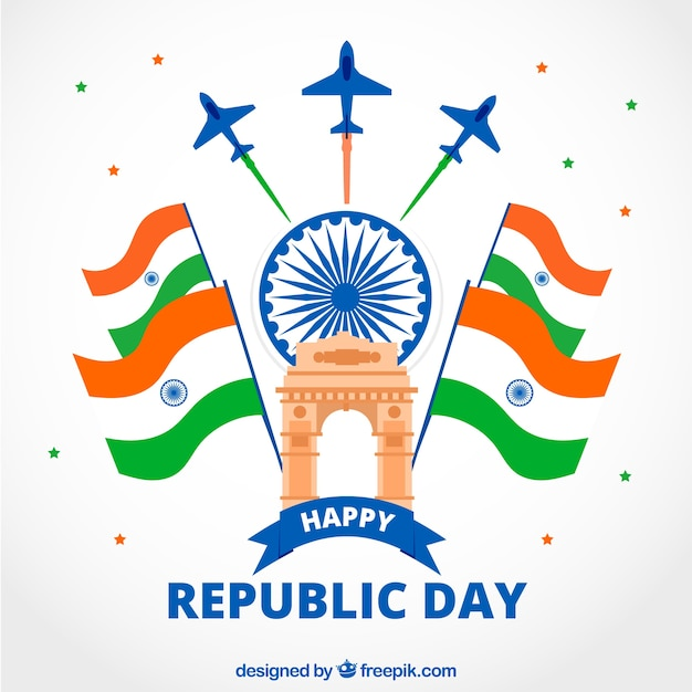 India republic day Free Vector