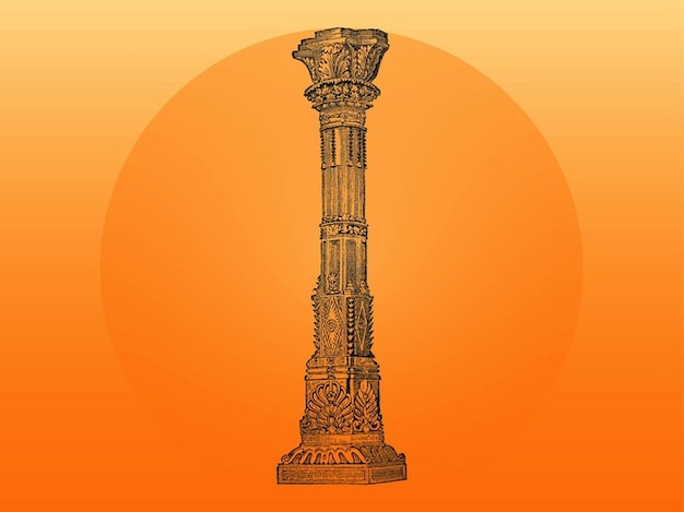 Indian architecture column