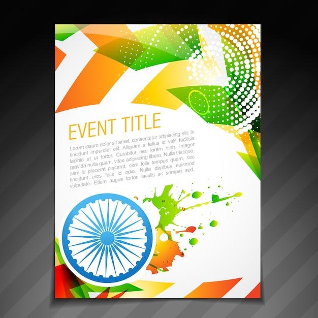 Indian brochure template design Free Vector