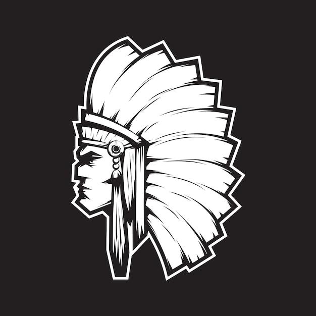 Indian chief mascot Premium Vector